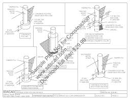 How To Build A Small Pole Barn Plans by Pole Barn Lean To Plans Sds Plans