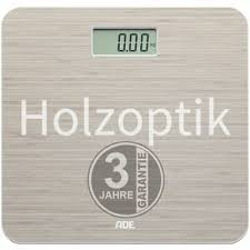 ade digitale personenwaage holzoptik lc display badwaage