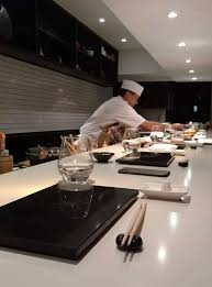 When The Counter Was Filled With Customers Couples Friends Everyone In Pairs And Older Than Me Chef Assistants Began Preparing First Sushi