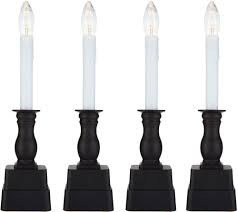 Qvc Bethlehem Lights Christmas Tree Recall by Bethlehem Lights Set Of 4 Battery Op Slim Base Window Candles