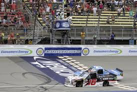 100 Win Truck Brett Moffitt Edges Jimmy Sauter In Michigan For 4th S Win Of