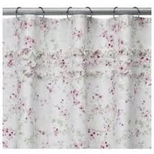 Simply Shabby Chic Curtains White by Cottage Victorian Shower Curtain Foter