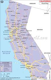 California Road Map Highway