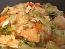 potée de chou chinois et poulet diet délices recettes