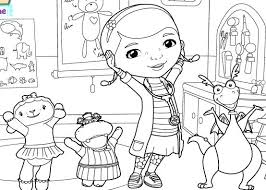 Doc Mcstuffins Printable Coloring Pages School Of Medicine Page Disney Family