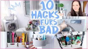 10 hacks für kleine badezimmer organisation stauraum dekoration castielle