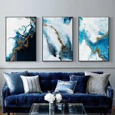nordic abstract color canvas painting poster and print
