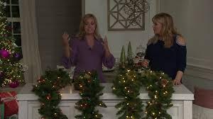 Qvc Pre Lit Christmas Trees by Bethlehem Lights Prelit 6 U0027 Or 9 U0027 Canterbury Garland On Qvc Youtube