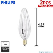 philips 40w 120v f10 5 e12 clear 2900k halogen decorative light