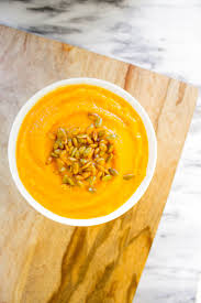 Roasted Hulled Pumpkin Seeds by Guest Recipe Roasted Squash Soup With Almond Cream And Spiced