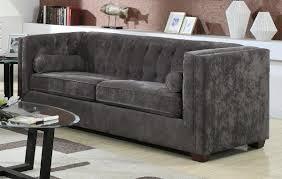 grey velvet sofa brooks velvet sofa grey tov furniture modern