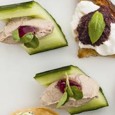 pate canapes liver pate in cucumber boats