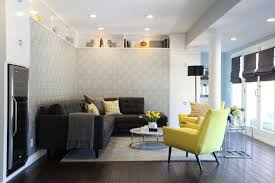 Grey Brown And Turquoise Living Room by Yellow And Gray Living Room Contemporary Living Room