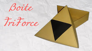 triforce l diy origami boite triforce triforce box box