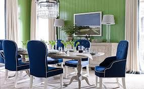 Light Velvet Blue Dining Room Chairs Modern