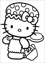 Printable Hello Kitty Coloring Pages Christmas To Print Zombie Halloween