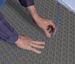 electric floor heating in floor heating installation accessory