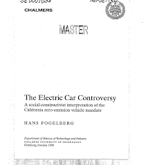 the electric car controversy