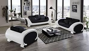 sam garnitur vigo 3 teilig schwarz weiß aus