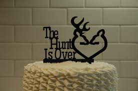 Deer Wedding Cake Topper The Hunt Is Over Grooms