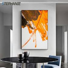 wunderbare farbe blöcke welt leinwand malerei blau orange