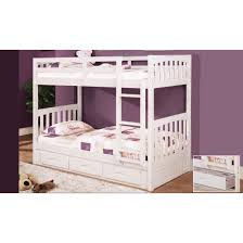 Twin Over Twin Bunk Beds With Trundle by White Beach House Bedroom Package