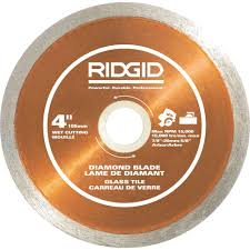 cutting glass tile with saw ridgid 4 in glass tile blade hd gt40p the home depot