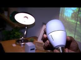 sony led bulb speaker sounds like a bright idea