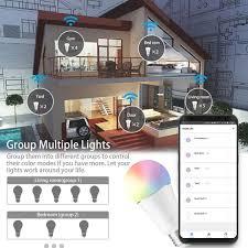 JOMARTO Smart LED Lampe WIFI Lampe E27 9W 800LM Smart Lampe Wifi Smart Birne RGBW Dimmbar Wlan Glühbirne APP Gesteuert Weißes Und Buntes Licht