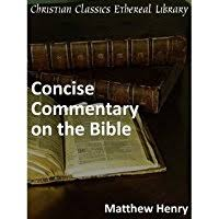 Matthew Henrys Concise Commentary On The Bible