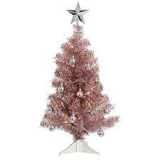 LED Pink Tabletop Christmas Tree