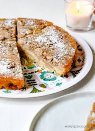 apfelkuchen mit walnüssen und zimt kopfüber gebacken was