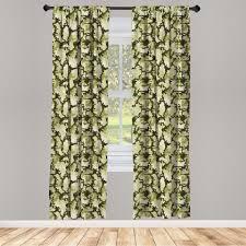gardine fensterbehandlungen 2 panel set für wohnzimmer schlafzimmer dekor abakuhaus grün jungle camouflage design kaufen otto