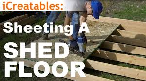 Floor Joist Spacing Shed how to build a shed part 3 install floor sheeting youtube