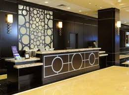 Love This Idea Modern Lobby Hotel Interior Design Do Try At Home Mixed Prints Mixing Patterns Decor Chandelier