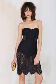 nasty gal for love u0026 lemons midnight lace dress black in black