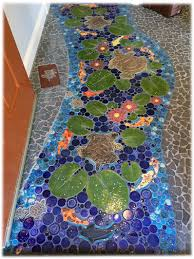 lovely tranquil ceramic tiles mosaic turtle pond koi floor