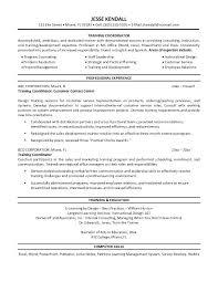 Sales Trainer Resume Training Resume Format Free Professional