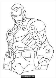 Marvel Superhero Ironman Coloring Page