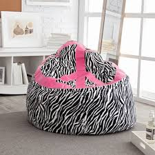 Zebra Print Peace Sign Bean Bag Chair Tweens At Hayneedle
