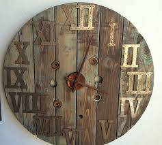 Wood Spool Clock Reclaimed Wood Clock Large 38 Inch Wood Rustic Wall Clock Oversized Oval Roman Numeral 40cm Pallet Wood Diy Youtube Pottery Barn Shelves 16 Image Avery Street Design Co Farmhouse Clocks And Fniture Best 25 Large Wooden Clock Ideas On Pinterest Old Wood Projects Reclaimed Home Do Not Use Lighting City Reclaimed Barn Copper Pipe Round Barnwood Timbr Moss Clock16inch Diameter Products