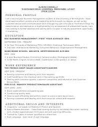 Resume Example Format Technical Architect Undergraduate Student Cv Template Doc Grade 9 Powerful Stude