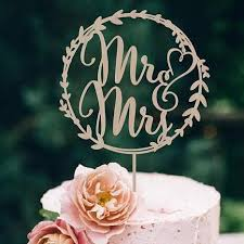 Wood Wedding Cake Topper Rustic Vintage Country Themes Simple Elegant
