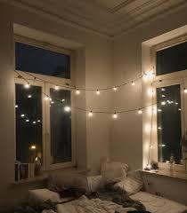 bett bed glühbirnen lichterkette gemütlich lights cozy