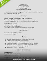 Social Worker Resume Entry Level