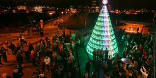 Christmas Tree Shop Henrietta Ny by Genesee Brewery Lights Up Giant Keg Tree
