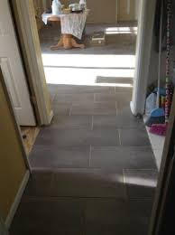 Groutable Peel And Stick Tile Home Depot by Trafficmaster Ceramica Coastal Grey 12 In X 24 In Vinyl Tile