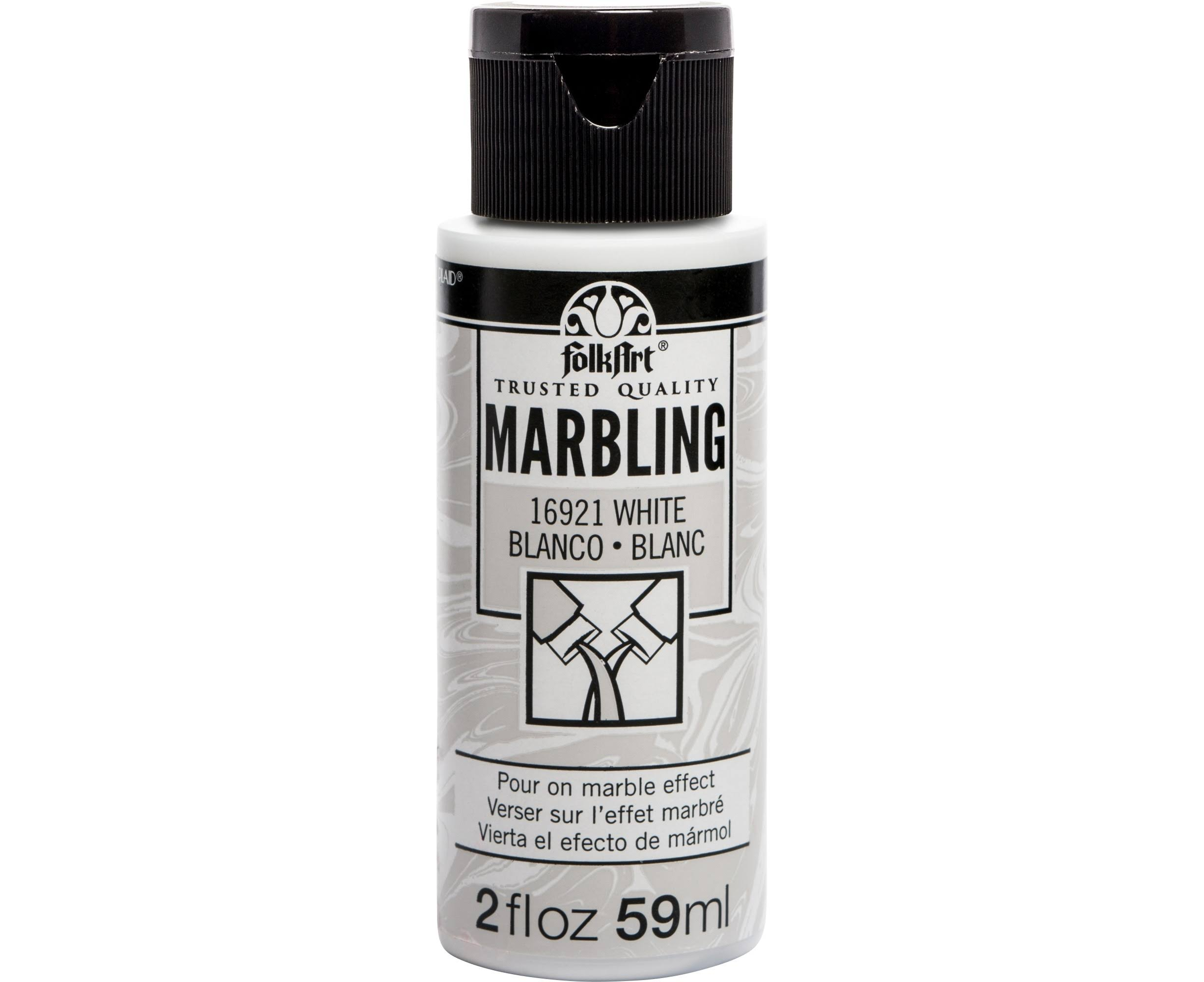 FolkArt Marbling Paint - White, 2 oz.