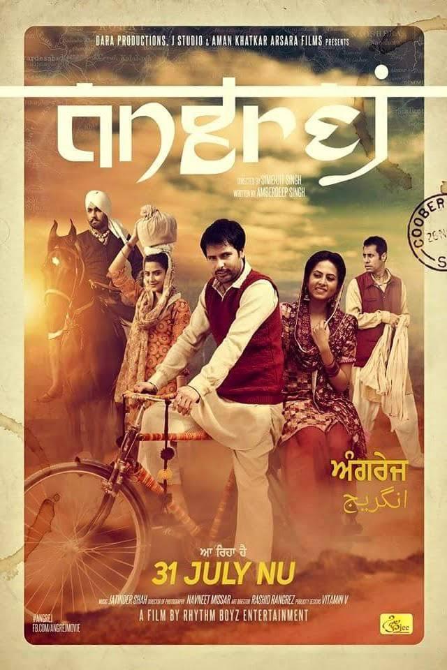 Angrej 2015 Punjabi Full Movie Download HDRip 720p