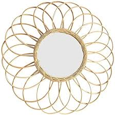 fllyingu rattan wandspiegel dekoration jahrgang spiegel